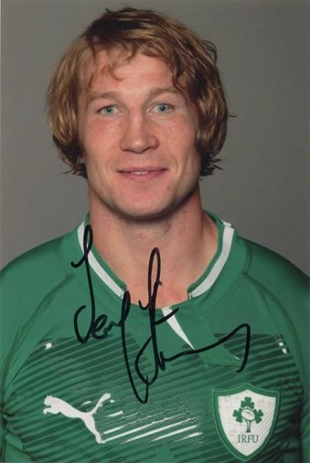 Jerry Flannery, Munster &  Ireland, signed 6x4 inch photo.